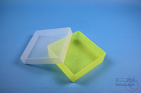 EPPi® Box 45 / 1x1 without divider, neon-yellow, height 45-53 mm variable,...