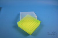 EPPi® Box 45 / 9x9 divider, neon-yellow, height 45-53 mm variable, without ID...