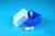 EPPi® Box 45 Junior / 1x1 ohne Facheinteilung, neon-blau, Höhe 45-60 mm...