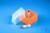 EPPi® Box 45 Junior / 1x1 ohne Facheinteilung, neon-orange, Höhe 45-60 mm...