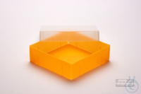 EPPi® Box 50 / 1x1 without divider, neon-orange, height 52 mm fix, without ID...