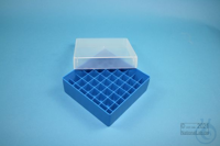 EPPi® Box 50 / 7x7 divider, blue, height 52 mm fix, without ID code, PP....