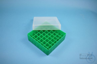 EPPi® Box 50 / 7x7 divider, green, height 52 mm fix, without ID code, PP....