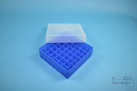EPPi® Box 50 / 7x7 divider, neon-blue, height 52 mm fix, without ID code, PP....