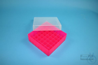 EPPi® Box 50 / 7x7 divider, neon-red/pink, height 52 mm fix, without ID code,...