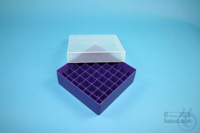 EPPi® Box 50 / 7x7 divider, violet, height 52 mm fix, without ID code, PP....