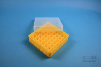 EPPi® Box 50 / 7x7 divider, yellow, height 52 mm fix, without ID code, PP....