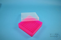 EPPi® Box 50 / 9x9 divider, neon-red/pink, height 52 mm fix, without ID code,...