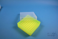 EPPi® Box 50 / 9x9 divider, neon-yellow, height 52 mm fix, without ID code,...