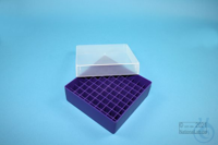 EPPi® Box 50 / 9x9 divider, violet, height 52 mm fix, without ID code, PP....