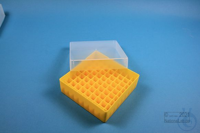 EPPi® Box 50 / 9x9 divider, yellow, height 52 mm fix, without ID code, PP....