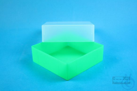 EPPi® Box 67 / 1x1 without divider, neon-green, height 67 mm fix, without ID...