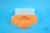 EPPi® Box 67 / 1x1 ohne Facheinteilung, neon-orange, Höhe 67 mm fix, ohne...