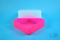 EPPi® Box 67 / 1x1 without divider, neon-red/pink, height 67 mm fix, without...