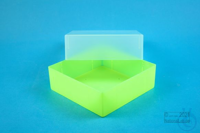 EPPi® Box 67 / 1x1 without divider, neon-yellow, height 67 mm fix, without ID...