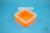 EPPi® Box 70 / 1x1 ohne Facheinteilung, neon-orange, Höhe 70-80 mm variabel,...