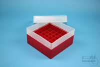 EPPi® Box 70 / 7x7 divider, red, height 70-80 mm variable, without ID code,...