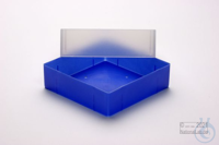 EPPi® Box 75 / 1x1 without divider, neon-blue, height 75 mm fix, without ID...