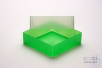 EPPi® Box 75 / 1x1 without divider, neon-green, height 75 mm fix, without ID...