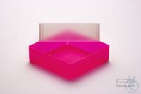 EPPi® Box 75 / 1x1 without divider, neon-red/pink, height 75 mm fix, without...