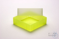 EPPi® Box 75 / 1x1 without divider, neon-yellow, height 75 mm fix, without ID...