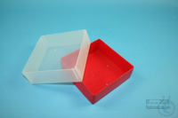 EPPi® Box 75 / 1x1 without divider, red, height 75 mm fix, without ID code,...