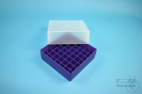 EPPi® Box 75 / 7x7 divider, violet, height 75 mm fix, without ID code, PP....