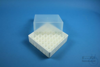 EPPi® Box 75 / 7x7 divider, white, height 75 mm fix, without ID code, PP....