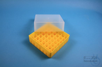 EPPi® Box 75 / 7x7 divider, yellow, height 75 mm fix, without ID code, PP....