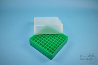 EPPi® Box 75 / 9x9 divider, green, height 75 mm fix, without ID code, PP....
