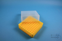 EPPi® Box 75 / 9x9 divider, yellow, height 75 mm fix, without ID code, PP....