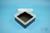 EPPi® Box 80 / 1x1 ohne Facheinteilung, schwarz, Höhe 80 mm fix, ohne...