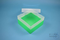 EPPi® Box 80 / 1x1 without divider, neon-green, height 80 mm fix, without ID...