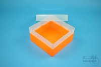EPPi® Box 80 / 1x1 without divider, neon-orange, height 80 mm fix, without ID...