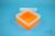EPPi® Box 80 / 1x1 ohne Facheinteilung, neon-orange, Höhe 80 mm fix, ohne...