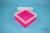 EPPi® Box 80 / 1x1 ohne Facheinteilung, neon-rot/pink, Höhe 80 mm fix, ohne...