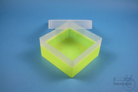 EPPi® Box 80 / 1x1 without divider, neon-yellow, height 80 mm fix, without ID...