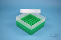 EPPi® Box 80 / 7x7 divider, green, height 80 mm fix, without ID code, PP....