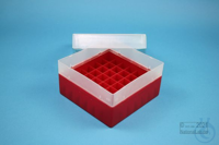 EPPi® Box 80 / 7x7 divider, red, height 80 mm fix, without ID code, PP. EPPi®...