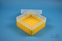EPPi® Box 80 / 7x7 divider, yellow, height 80 mm fix, without ID code, PP....