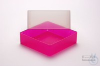 EPPi® Box 95 / 1x1 without divider, neon-red/pink, height 95 mm fix, without...