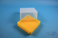 EPPi® Box 95 / 9x9 divider, yellow, height 95 mm fix, without ID code, PP....