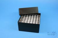 EPPi® Box 102 / 7x7 holes, black/black, height 102 mm fix, alpha-num. ID...