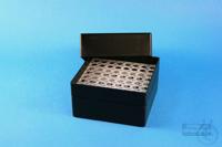 EPPi® Box 102 / 8x8 holes, black/black, height 102 mm fix, alpha-num. ID...
