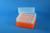EPPi® Box 102 / 8x8 Löcher, neon-orange, Höhe 102 mm fix, alpha-num....