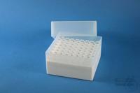 EPPi® Box 102 / 8x8 holes, white, height 102 mm fix, alpha-num. ID code, PP....