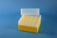 EPPi® Box 102 / 8x8 holes, yellow, height 102 mm fix, alpha-num. ID code, PP....