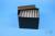 EPPi® Box 105 / 7x7 Löcher, black/black, Höhe 105 mm fix, alpha-num....