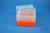 EPPi® Box 105 / 7x7 Löcher, neon-orange, Höhe 105 mm fix, alpha-num....