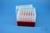 EPPi® Box 105 / 7x7 Löcher, rot, Höhe 105 mm fix, alpha-num. Codierung, PP....